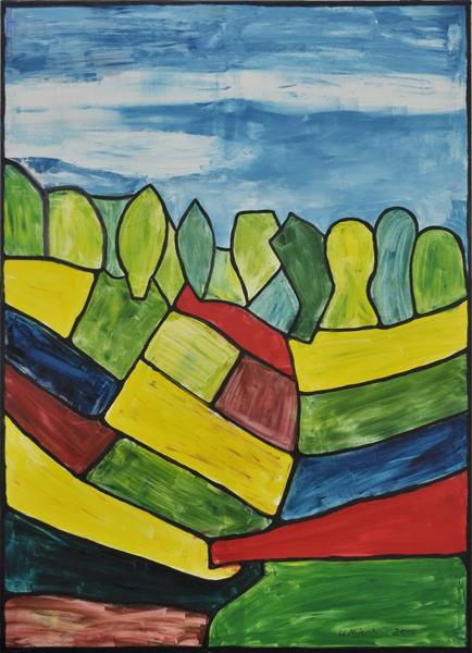 Abstrakter Frühsommer, Gemälde